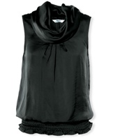 Kelso ladies black cowlneck shell blouse at R200.