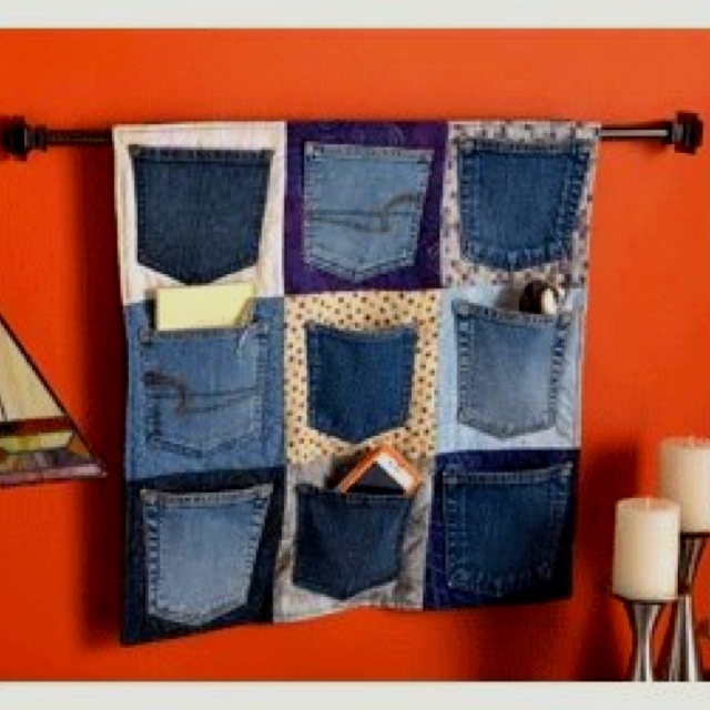 Jean pocket storage idea COOL FOR BOYS ROOM
