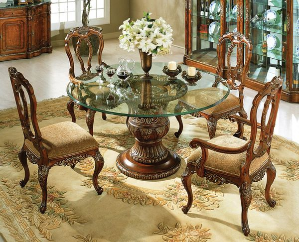 The Florence Dinette Set Collection In Mahogany 14757