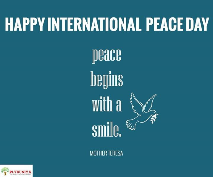 Peace begins with a smile.  - Mother Terresa   #internationalpeaceday - http://ift.tt/1HQJd81