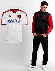 Kit Flamengo - Camisa Adidas Flamengo II 14/15 + Jaqueta Tibet - Branco+Preto