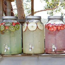 Assorted drink dispensers, available for hire from Treenridge weddings, Pemberton, from October 2014.