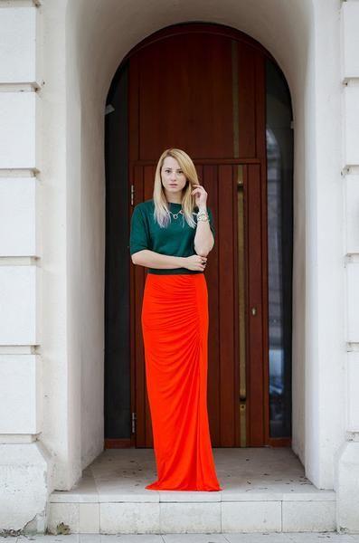 Modest Orange Skirt