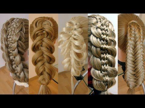 Красивая коса. Техника Рыбий хвост, объёмные подхваты. Видео-урок. Hair-tutorial. - YouTube