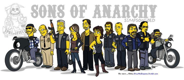Les acteurs de Sons of Anarchy simpsonized