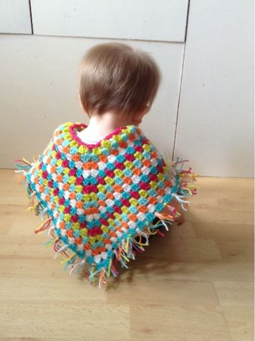 I have a challenge ahead, to make an adult poncho, so the best way of trying to see if I can get the shape right was to make a baby on...