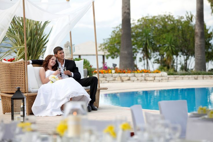 Spend your wedding day enjoying the best treatment (photo taken at Louis Kerkyra Golf Hotel)