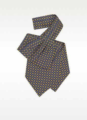 €58.80 | Beautifully crafted multi-colored floral print silk ascot tie. 100% silk. Handmade in Italy. Signature envelope included.