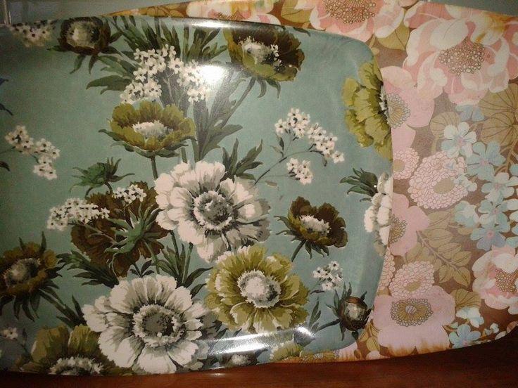 Thetford floral vintage trays