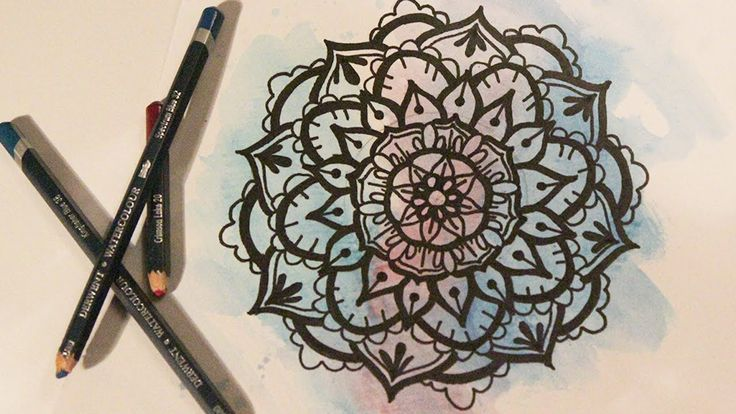 How to paint a Mandala watercolor - Speed paint