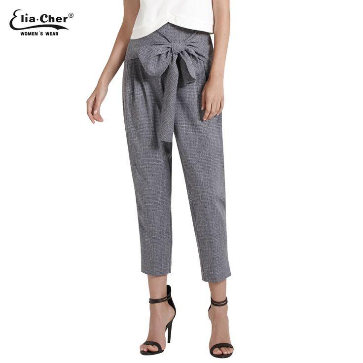 Women Pants 2017 Eliacher Brand Chic Pants Plus Size Casual Women Clothing Fashion Lady Trousers Pants