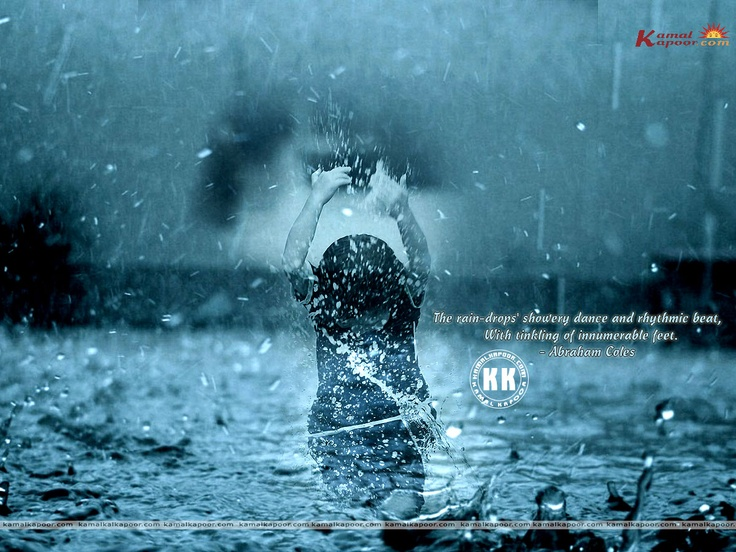 little girl playing in the rain rain sceneries