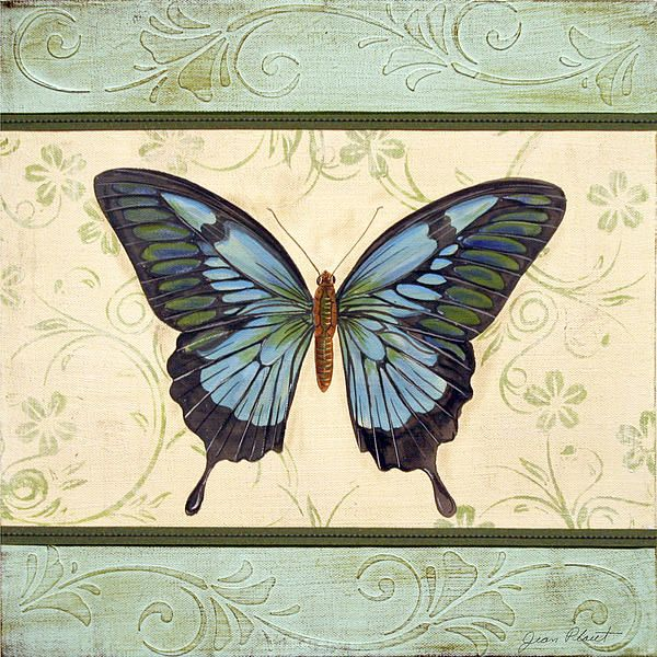 Lovely Butterfly-3 by Jean Plout - Lovely Butterfly-3 Painting - Lovely Butterfly-3 Fine Art Prints and Posters for Sale