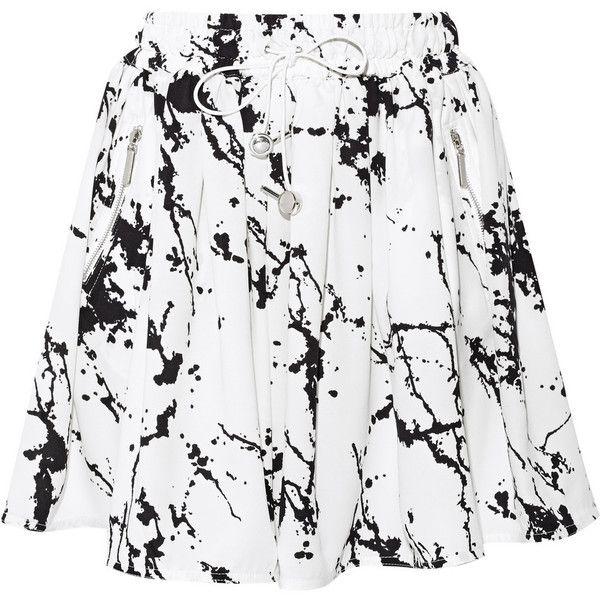 Zimmermann Printed crepe mini skirt found on Polyvore