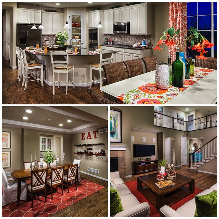 Model Homes Decorating Ideas Part - 31: Weu0027re LOVING This Combination Of Wood And Bright Colors In The Home! U2013 Home  Decor Ideas