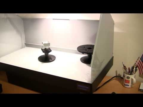 DCTRAIN shows off his new Artograph Spray Booth on youtube.com!