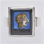 Athena Under Blue Sky Ring    www.silvertownart.com