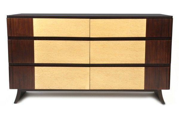 Eliel Saarinen for RWay furniture company lowboy circa mid 1940′s.  Red Modern Furniture