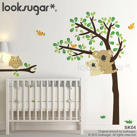 Owl Tree Wall Decals . Koala Tree Decal . Forest by looksugar
