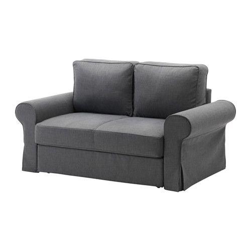 БАККАБРУ Диван-кровать 2-местный - Нордвалла темно-серый, Нордвалла темно-серый, - - IKEA