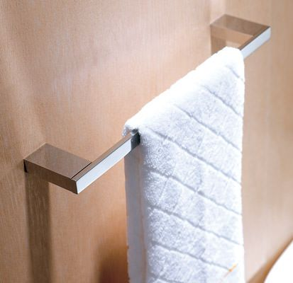essential urban square single towel rail 60cm chrome