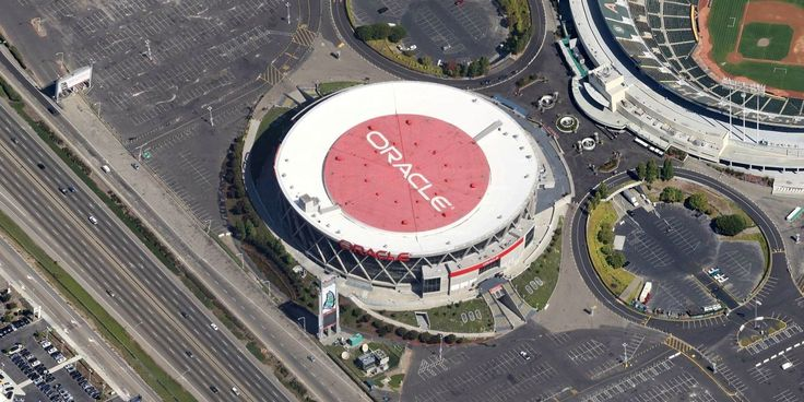 Oracle Arena - Golden State Warriors - Aerial Views of NBA Arenas