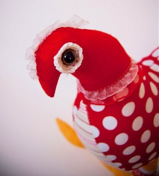 Handmade fabric chicken by Alala