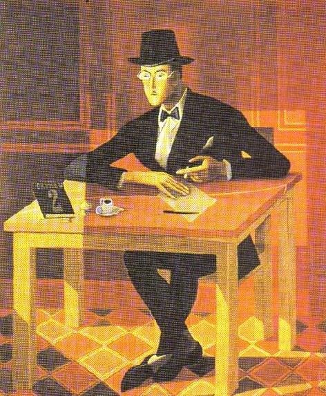 """Almada Negreiros """"portrait"""" of the poet Fernando Pessoa."""