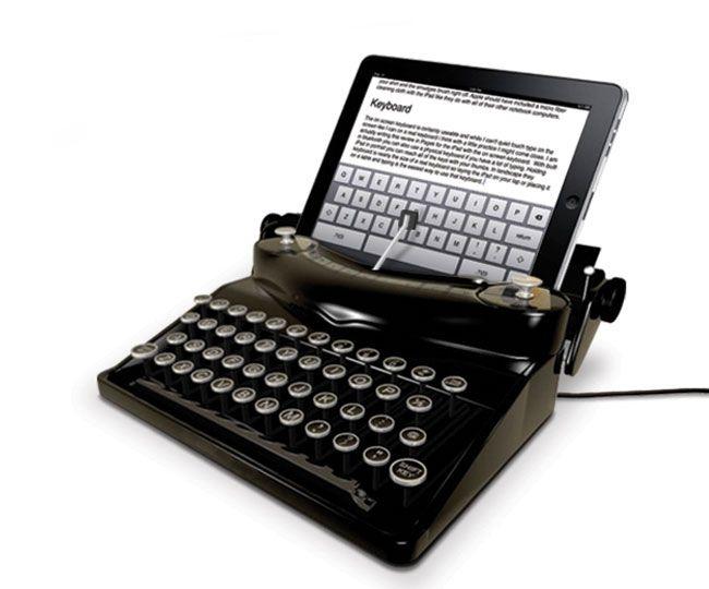 the typescreen typewriter ipad dock.