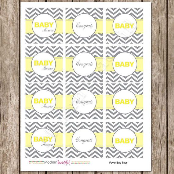 Etsy: Yellow and Grey Chevron Baby by ModernBeautiful, $8.00