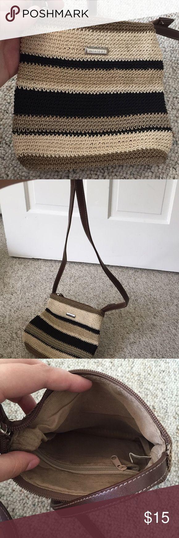 Minicci Bags - Minicci striped textile purse