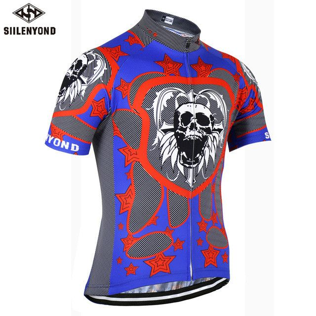 SIILENYOND 2017 Abyss Evil Cycling Jersey MTB Bicycle Clothing Racing Quick-Dry Bike Clothes Maillot Roupa Ropa De Ciclismo