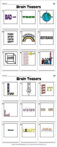 25 Best Ideas About Rebus Puzzles On Pinterest Brain