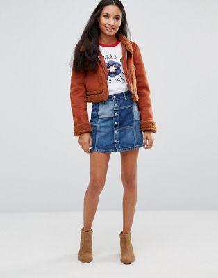 Minifalda vaquera con diseño patchwork Jagger de Pepe Jeans