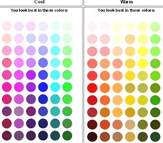 I am a warm skin tone so this is a usefull guide as to what colours are best and what coulors I may not be best in. I also know I go well with navy blue, so I don't know how that works in the colour chart.
