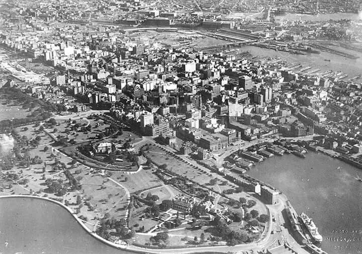 Sydney's skyline in 1934.Photo from NSW Masonic Club.A♥W