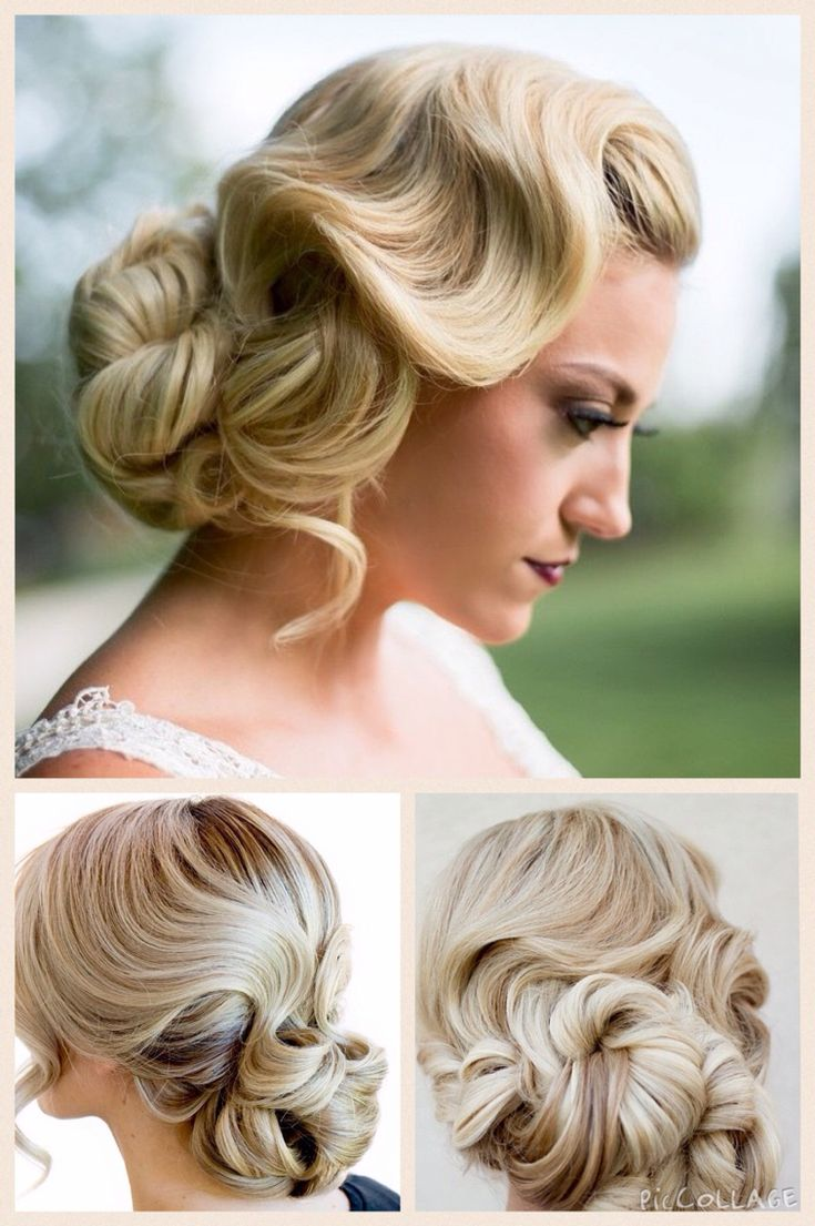 Finger wave with chignon