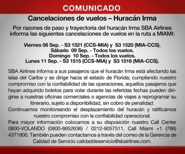 ATENCIÓN | Santa Bárbara Airlines Suspende Vuelos Venezuela-Miami (COMUNICADO) - Tostón Con Soda