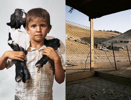 Bilal, anak usia 6 yang tinggal di Wadi Abu Hindi, The West Bank. Ia tinggal di tempat yang sangat sederhana.
