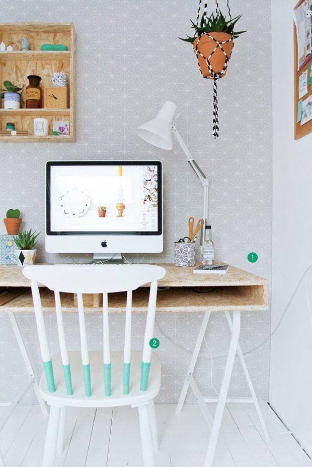 cute home office + DIY ideas #decor #escritórios #homeoffice
