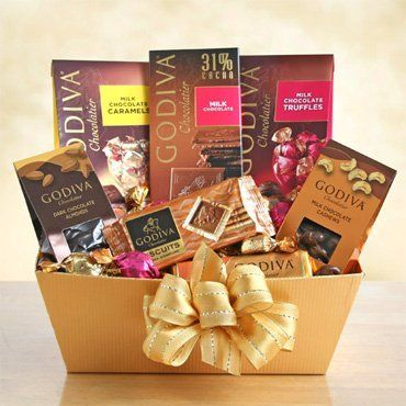 • (1) Godiva Milk Chocolate Caramels • (1) Godiva Milk Chocolate Truffles • (1) Godiva Biscuits • (1) Godiva Dark Chocolate Almonds • (1) Godiva Milk Chocolate Cashews • (1) Godiva Chocolatier Bar A perfect gift for the Holidays or any special occasion. Basket comes with a variety of Godiva Choco... more details available at https://perfect-gifts.bestselleroutlets.com/gifts-for-holidays/grocery-gourmet-food/product-review-for-exquisite-arrangements-godiva-chocolat