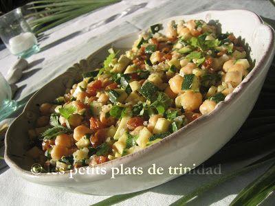 les petits plats de trinidad: Salade de quinoa et pois chiche à l'orientale