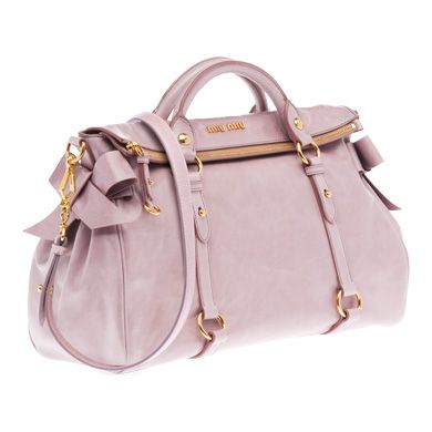 Miu Miu Vitello Ruched Top Handle Bag