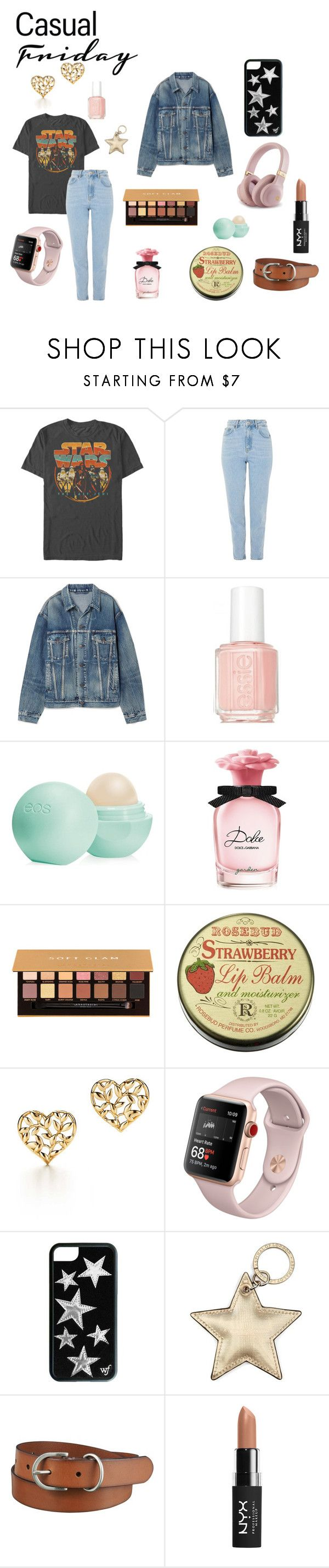 """""""casual friday"""" by thatgirlwithapiano ❤ liked on Polyvore featuring Topshop, Balenciaga, Essie, Eos, Dolce&Gabbana, Anastasia Beverly Hills, Paloma Picasso, Aspinal of London, Uniqlo and NYX"""