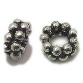Classical sterling silver bali beads