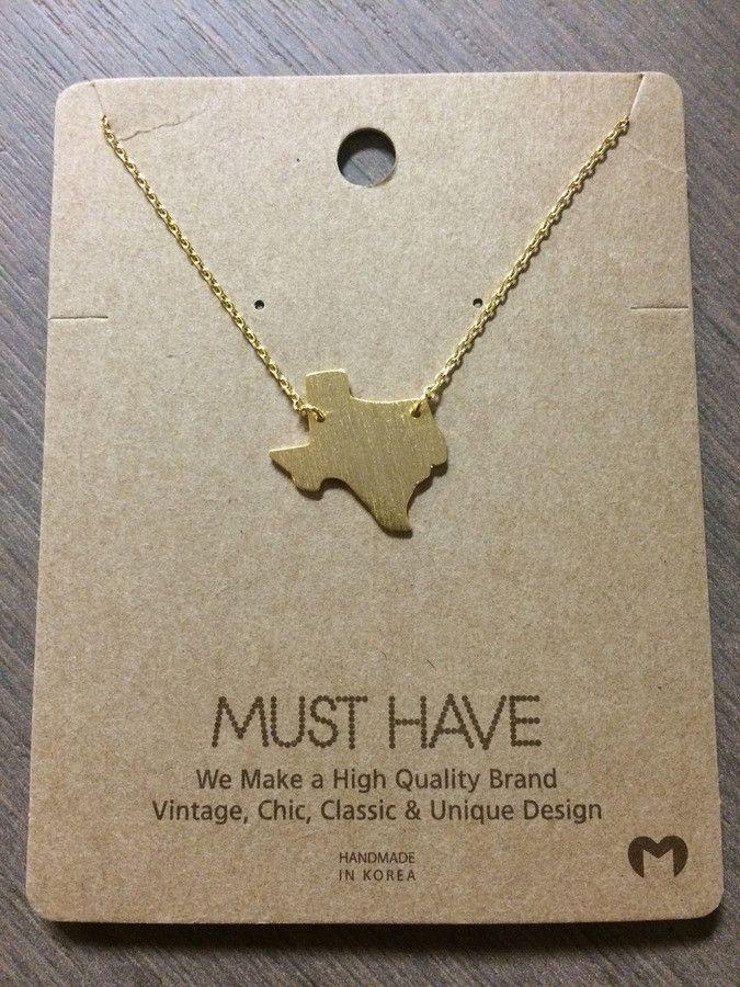 Texas Necklace - Gold ✖️FOSTERGINGER AT PINTEREST ✖️ 感謝 / 谢谢 / Teşekkürler / благодаря / BEDANKT / VIELEN DANK / GRACIAS / THANKS : TO MY 10,000 FOLLOWERS✖️