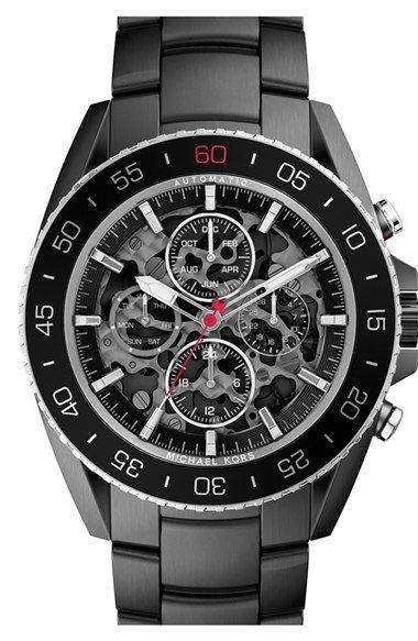 MICHAEL Michael Kors Michael Kors 'Jet Master' Automatic Bracelet Watch, 45mm available at #Nordstrom