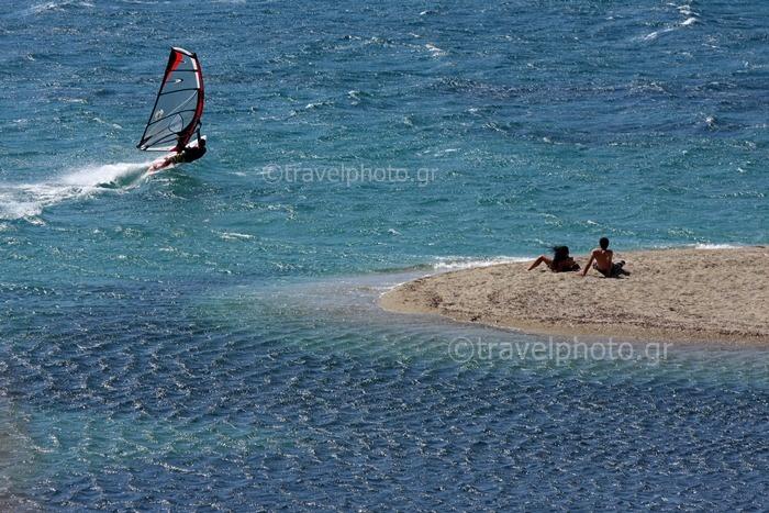 Windsurfing in Evia, Greece