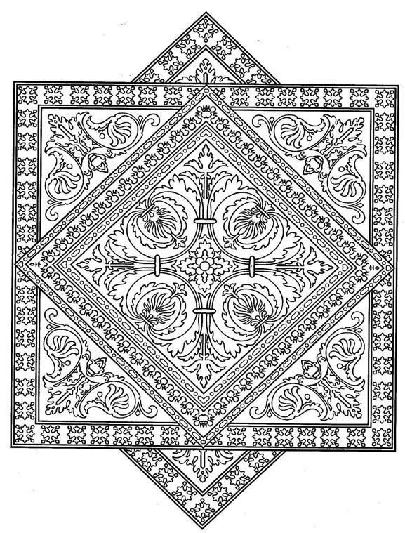 Tiles Geometric Coloring Pages