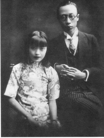 The Last Emperor Puyi and his wife Wan Rong in Tianjin, China c 1922